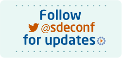 Follow @sdeconf for updates